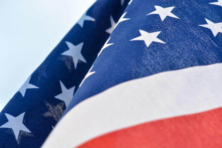 Close-Up Of Flag Against Sky