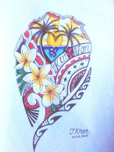 Pacific Style Tattoo Flash