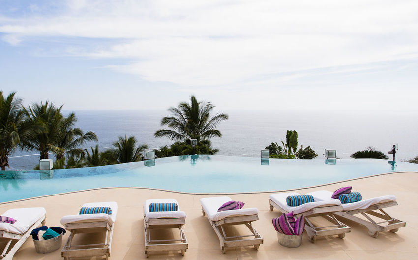 Beachhouse in Mexico Beach Blue Blue Sky Coastline Holiday Horizon Over Water Money Money Money Money Nice Day Ocean Ocean View Outdoors Palm Tree Relaxation Rich Sand Sea Shore Summer Sun Sunchair Tropical Climate Vacation Vacations Water