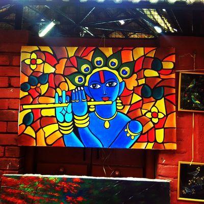 Chitrasanthe Artfair Art Bangalore Krishna Color Bangalore Painting Creative Painting India