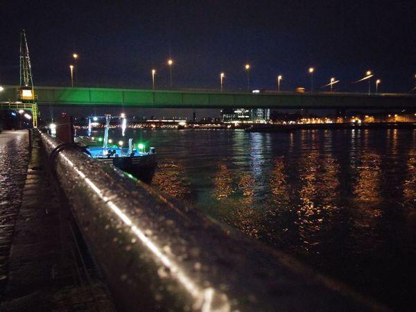 Water Illuminated Night Reflection No People Built Structure Suspension Bridge River Bridge - Man Made Structure City Architecture