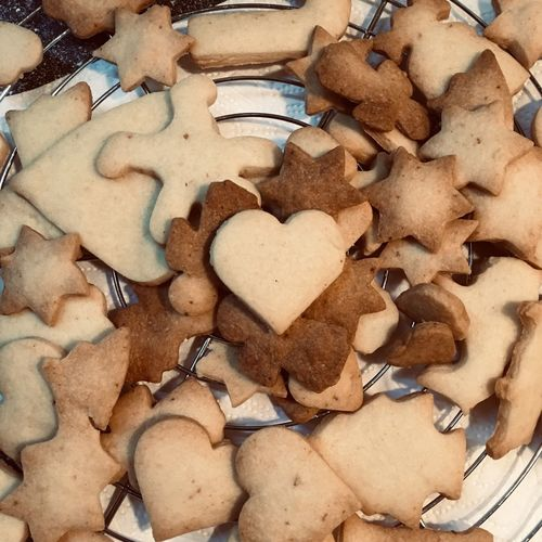 Heart Cookies Christmas Cookies Christmastime Baking Heart Shape Food Baked Love Cookie Food And Drink High Angle View Sweet Food Positive Emotion Emotion
