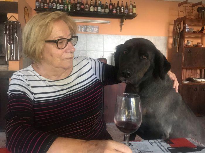 My mom and Zeus