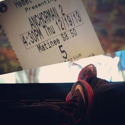 Anchorman 2. Am I a loser for going to the movies my myself tho !? Fuckit Rainydayshit