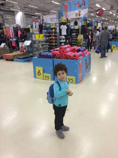 Myson and shopping Shopping