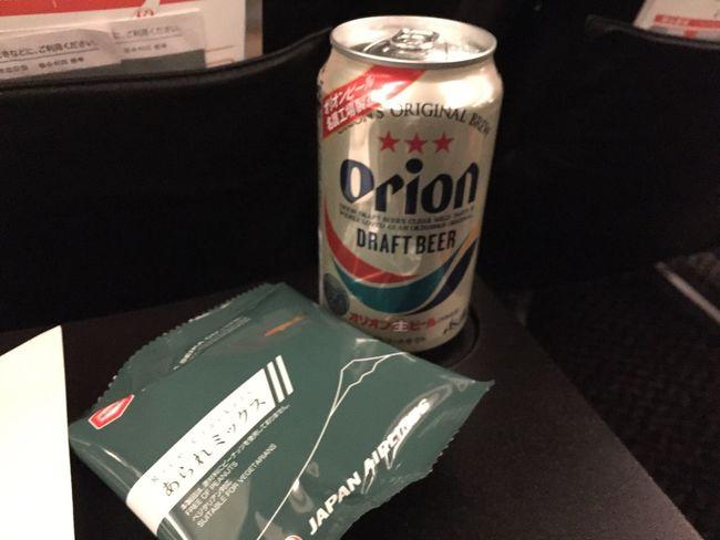 機内で最後の沖縄を満喫で( ^ ^ )/■ 麦酒 Beer