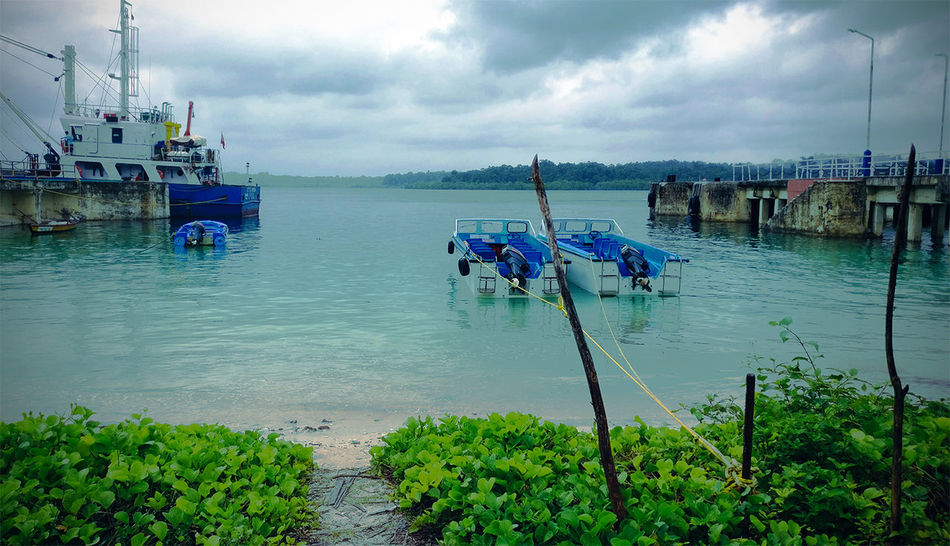 Havelock Jetty Andaman Islands Havelock Islands Port Blair Beauty In Nature Cloud - Sky Harbor Mode Of Transport Nautical Vessel Outdoors Sea Sky Transportation
