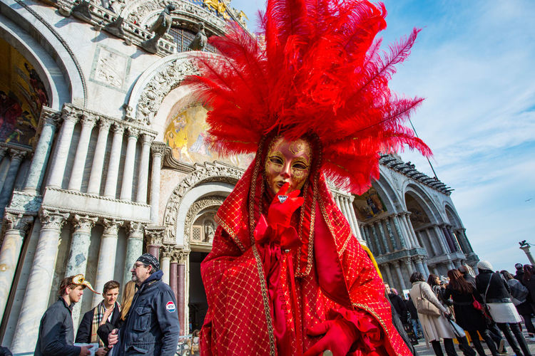 Carnival Carnival In Venice Adult Adults Only Architecture Arts Culture And Entertainment Carnival Costumes City Day Low Angle View Mask Outdoors People Real People Travel Destinations Young Adult Young Women