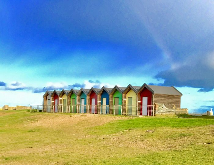 Beach Huts And Sky Colour Of Life Blyth
