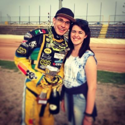 100happydays 100challenge Day8 Speedway racing champion thirdposition love boyfriend smile feelgood instayabre bangherang proudofyou