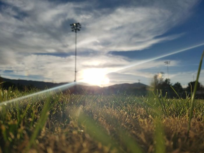 Field Growth Agriculture Crop  Cloud - Sky No People Rural Scene Sky Nature Social Issues Grass Outdoors Soccer Plant Day Soccer Field Sport Beauty In Nature Freshness