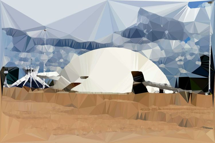 Dome Digital Imaging Art, Drawing, Creativity Triangulation Digital Manipulation Brasília - Brazil Architecture_collection Architecture Cityscape Dome Architecture By Niemayer