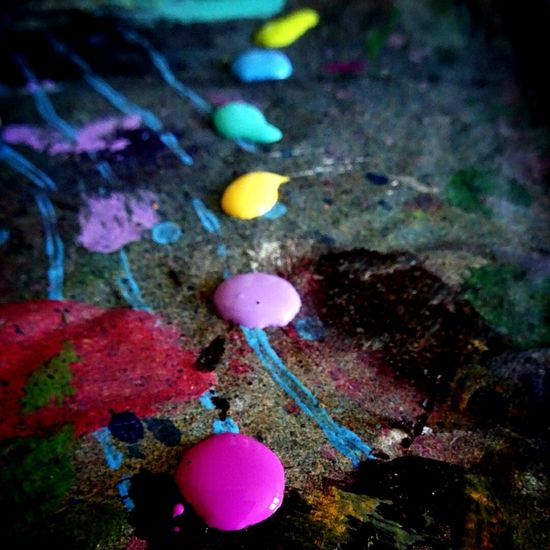 Paint Acrylics Colors Colours Palette Creativity Pink Purple Blue Green Turquoise Yellow