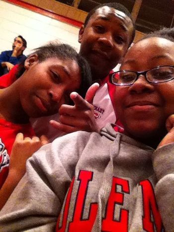 Vivica, Felix, and me at tha game Friday night !(: