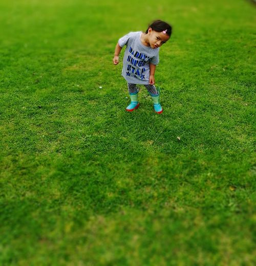 Hi EyeEm♥♥Good AfterNoon All my baby Stephaney Childhood Photos Children Photography Toddlers  Posing For The Camera Green Color Green Grass Playing Love ♥ People And Places. The Color Of School By September 22 2016