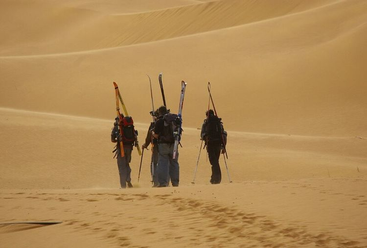 Sahara skiing. Adventure Exploration Outdoors Remote Extreme Sports Sahara Desert s Sand Dune