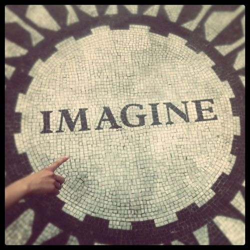 Imagine That New York City NYC Central Park, New York Strawberry Fields Adapted To The City