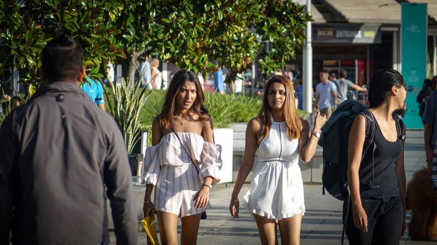 Group of people walking outdoors