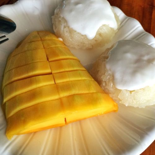Only God knows how much I wanna cry at this monent when finally eating my dream-to-died sticky rice with mango!Thousands of thrill!!???Ignore my grammar mistakes. Miss Thailand Foodie