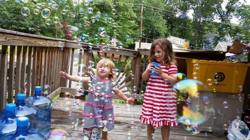 Bubbles Children Children Photography Kids