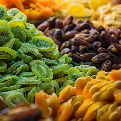 Full Frame Shot Of Dried Fruits