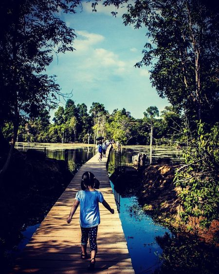Cambodia Siem Reap, Cambodia Neak Pean Child Lake View Water Outdoors Temple