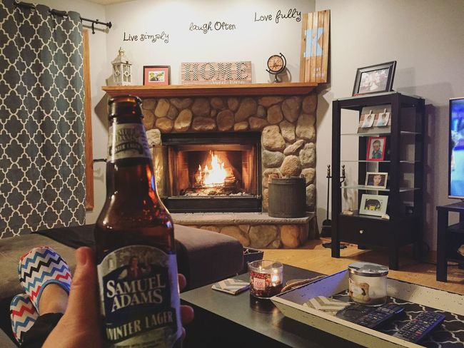 Weekend relaxing Fire Beer Relax Lovemyhome