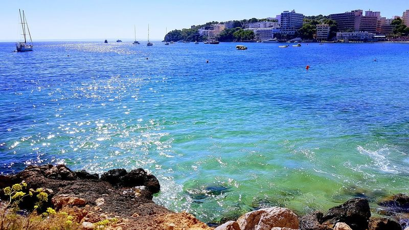 Sea Water Blue Beach Outdoors Sky Nature Day Beauty In Nature No People Horizon Over Water Swimming UnderSea Tranquil Scene Tranquility EyeEmNewHere Travel Destinations Beauty In Nature First Eyeem Photo Mallorca❤️ Lifestyles Palma Mallorcaisland Tourism Vacations