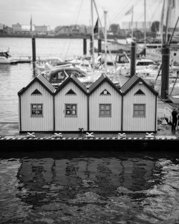 Water Architecture Building Exterior Waterfront Built Structure Nautical Vessel Day Outdoors Sky Harbor Black And White Blackandwhite Photography Black & White Bnw Monochrome Hamburg City Travel Reflection Streetphotography