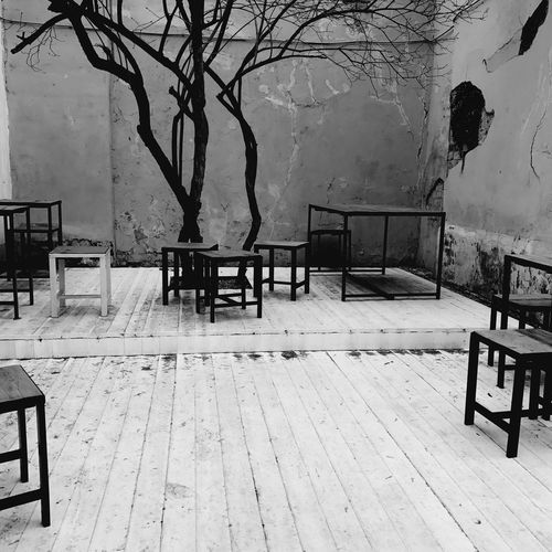 Empty Absence Table Chair Wood - Material No People Day Furniture Architecture Seat Nature Outdoors Tree