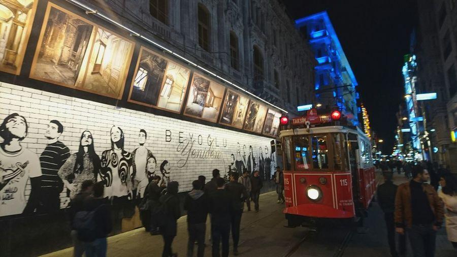 Showcase July Istiklalcaddesi Istiklalstreet Taksim Taksimbeyoglu Istanbul Tramvay Crowded Street Streetphotography Adventure Club Turkey Turkishfollowers Lights And People Photography Clever Sonyxperia Camera