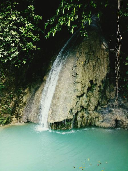 Water Tree Beauty In Nature Nature No People Outdoors Fountain Waterfall Vacations Travel Destinations Chasing Waterfalls Waterfalls💦 Swimming Happiness Green Color Nature Power In Nature Freshness Swim Vacations Waterfalls In Philippines Waterfalls And Mountains