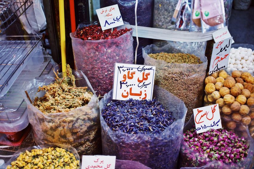 herbs and plants Open Edit OpenEdit EyeEm Selects Tradition Attari Iran Tehran Herbal Medicine Dried Plant Dried Herbs Retail  Market Choice Variation For Sale Price Tag Food Food And Drink Retail Display Market Stall Freshness High Angle View Business Small Business Abundance Large Group Of Objects Text Arrangement Healthy Eating Number