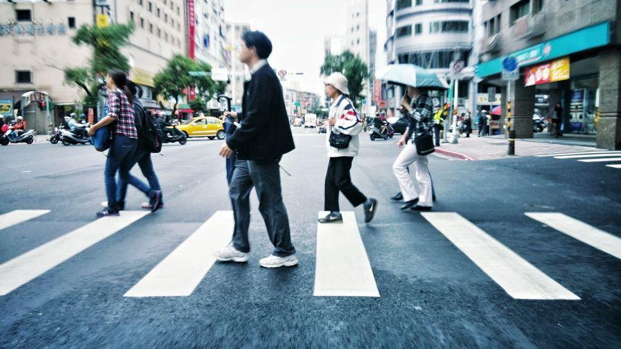 Street Taipei Peoples On The Road