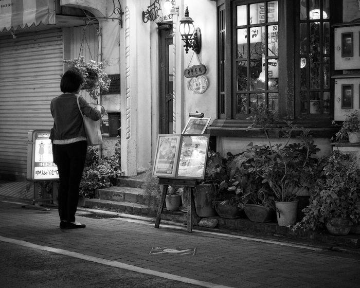 One Person Rear View Women People Snapshot Streetphotography_bw B&w Street Photography Night Lights Nightphotography Night City City Life Shopping ♡ Kichijoji 吉祥寺 Tokyo Japan