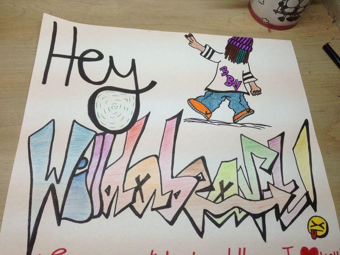 DONEEEE!!^_^ Teamwilldabeast Hey✌ Sick Graffiti