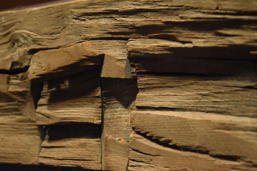 Wooden Fireplace Mantel Close Up Close-up Day Fireplace Mäntel No People Rough Texture Wood