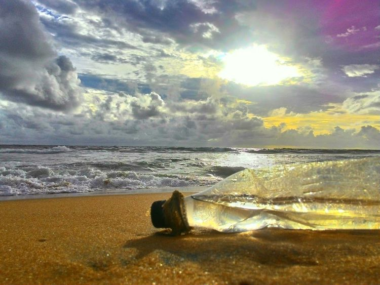 Asuszenfone Mobilephoto Deceptively Simple Glitch Sea Clouds Sky Beautiful Nature Golden Earth