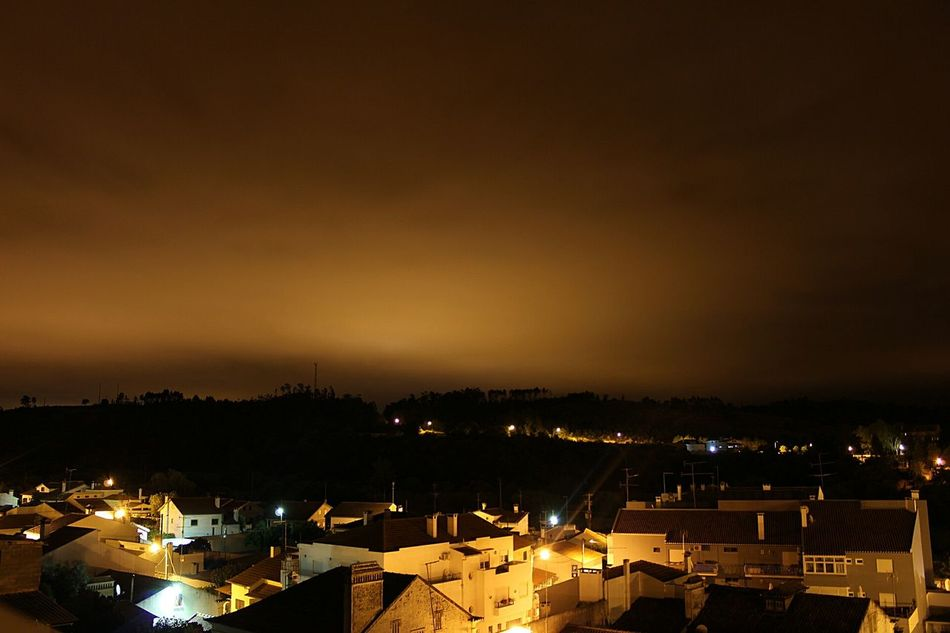 Golden Night Lights Night Illuminated City Gold Golden Abrantes Town Sky Portugaldenorteasul Portugal_em_fotos Atmospheric Mood