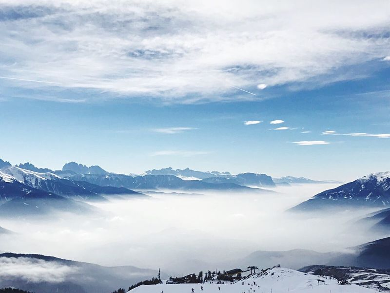 Mountain Snow Winter Tranquil Scene Tranquility Nature Weather Sky Outdoors Mountain Peak Cold Temperature Mountain Range Beauty In Nature Extreme Terrain First Eyeem Photo