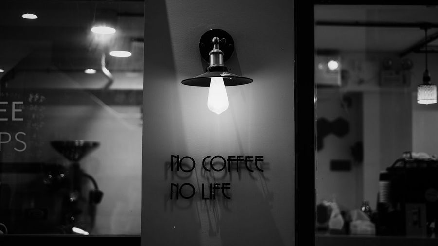 Coffeeshop Coffee Coffee Illuminated Lighting Equipment Indoors  No People Glass - Material Night Transparent