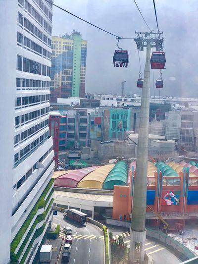 Colour 🌈 Cabelcar Colour Rainbow Architecture Building Exterior Built Structure City Sky Transportation Street A New Perspective On Life