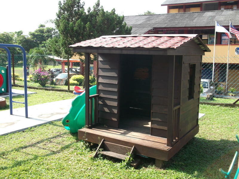 Built Structure Outdoors Small House In The Playground Small House In The Woods