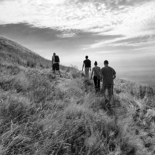 Blackandwhite Field Fujifilm Puy De Dôme Square Togetherness Trail Walking