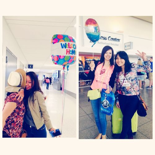 It's a great pleasure to have such a friends, who r always waiting for u! My trip to US was unforgettable because of these two girls! Frinds Friendship Girls Baloons Newyork Losangeles USA Trip Vacation