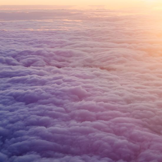 Cloud number 9 Pink Clouds Cloudscape Sunset Nature Cloud - Sky Beauty In Nature Sky Majestic Tranquility Scenics No People Backgrounds Aerial View The Natural World Tranquil Scene Dramatic Sky Travel Sky Only Journey Pink Color