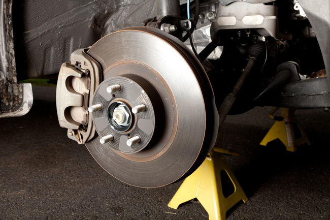 Brake Job - replacing disk brakes on a car DIY Disk Brakes Rotor Calipers Close-up Day Equipment Equipments Jack Stand Machinery Mecanical Metal No People Pads Repair Transportation Wheel