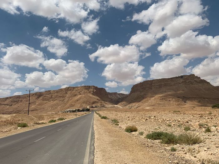 Cloud - Sky Road Sky Transportation Direction The Way Forward Scenics - Nature Nature Environment Day Beauty In Nature Tranquil Scene Non-urban Scene Tranquility Road Marking Landscape Empty Road Land