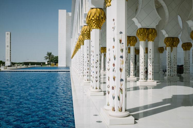 Abu Dhabi Abudhabi Allah Dubai Grand Mosque Islam Mosque Pool Praise Pray Prayer Quran UAE Worship