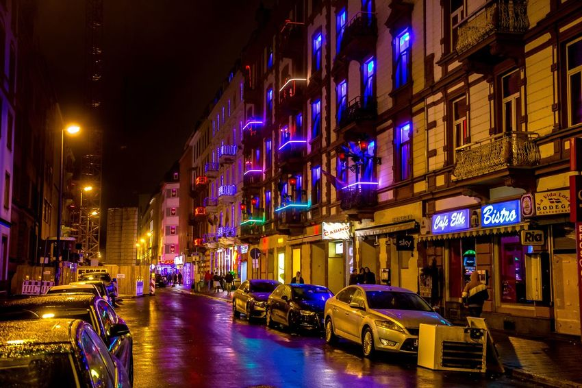 Red Light District Architecture Frankfurt Am Main Night Lights Nightphotography Night Lights And Shadows Lights Red Redlightdistrict Illuminated Night Celebration Architecture Multi Colored No People Nightlife City Outdoors EyeEmNewHere